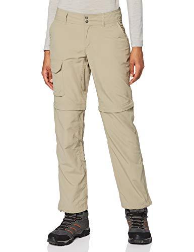 Columbia Damen 2-in-1 Wanderhose, Silver Ridge Convertible Pant, Nylon, Braun (Tusk), Gr. W44/R, 1443271