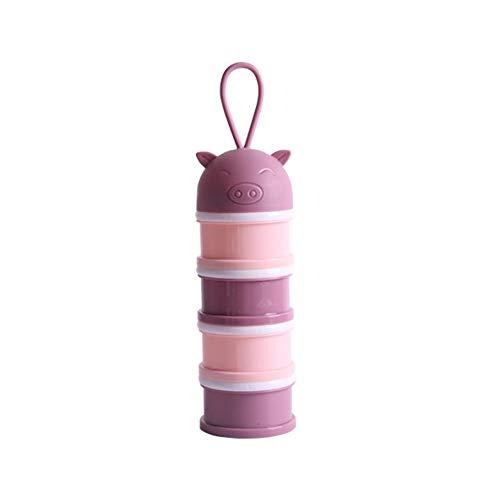 Hualieli Baby Milchpulver Dispenser 4 Schichten Tragbare Säugling Milch-Box Milchkannen-Aufbewahrungsbox für Reise Einkäufe und Outdoor-Aktivitäten, 8 8 23cm / 3.15 3.15 9.06in