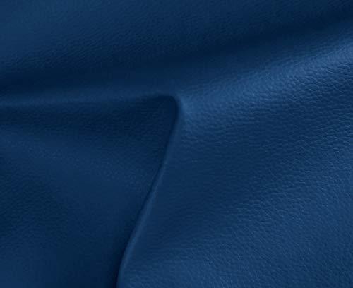 HAPPERS 0,50 Metros de Polipiel para tapizar, Manualidades, Cojines o forrar Objetos. Venta de Polipiel por Metros. Diseño Solar Color Azul Ancho 140cm