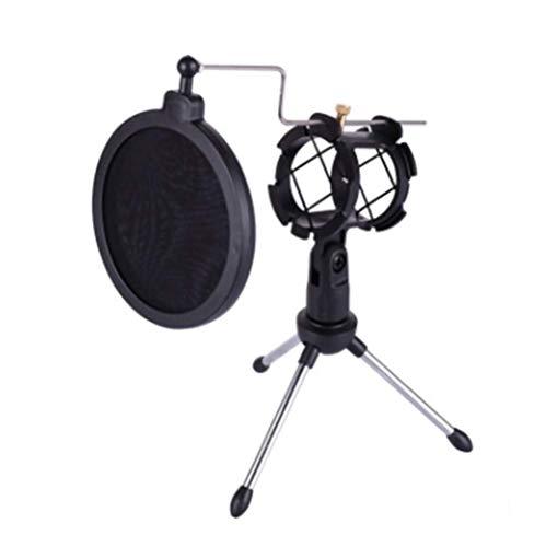 Microfoon Statief, Stand Foldable Desktop Microphone Beugel Met Shock Mount Mic Houder Clip Filter