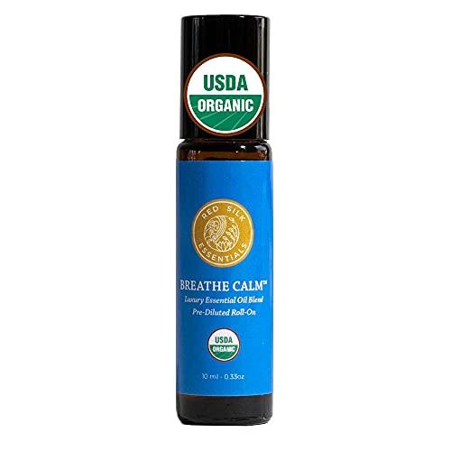 Organic Breathe Calm Essential Oil Respiratory Blend Roll...