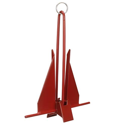 Seachoice 41726 Utility Anchor – PVC Coated – 8 Pounds – Red – for Boats up to 24 Feet - SEACHOICE Boat Anchor