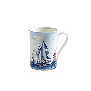 Maxwell & Williams S88006 Nautical Becher, Kaffeebecher, Tasse, Segeln, in Geschenkbox, Porzellan