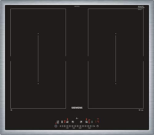 Siemens, iQ500, ED645FQC5E, kookplaat, zwart, roestvrij staal, inbouwkookplaat, inductie