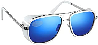 White Flight Style Goggle Frame Sunglasses UV400 Protection (Pack of 5)