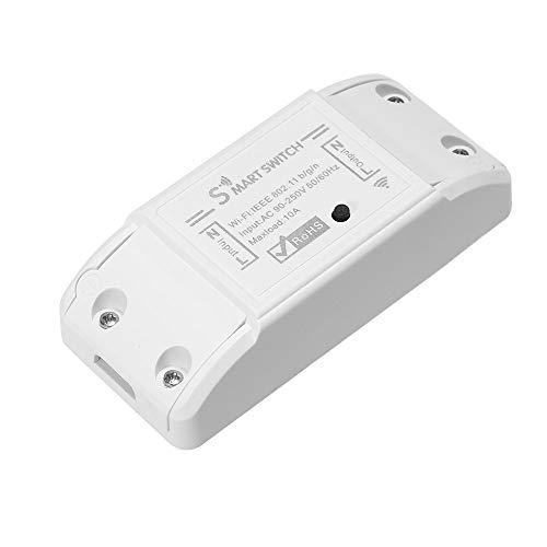 OWSOO Interruptor Control Remoto WiFi Inalámbrico WiFi Smart Switch 10A/2200W para Control de Android/iOS App Compatible con Amazon Alexa & para Google Home Timer
