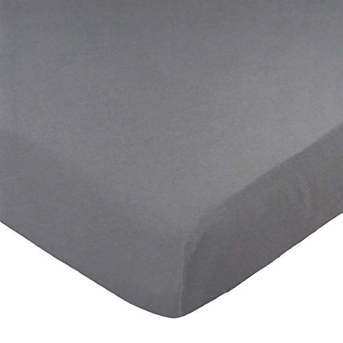 Read About SheetWorld Fitted Pack N Play (Graco Square Playard) Sheet - Dark Grey Jersey Knit - Soli...