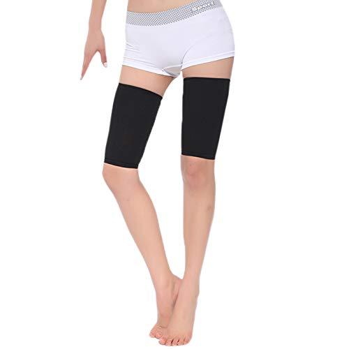 Elonglin Minceur Femmes Jambe Emballage Chaussette de Contention Compression Bas Cuisse Manchon de Compression Les Cuisse Poids Perte Taille Libre Noir