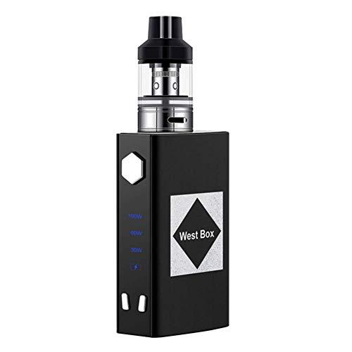 Yeleo Trosetry Sigaretta Elettronica Kit Completo, 100W BOX MOD Batteria da 1800 mAh + 2ml Atomizzatore Top Fill, Senza Nicotina(nero)