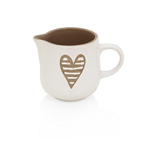 Brandani 55678, lattiera Batticuore colore tortora in stoneware
