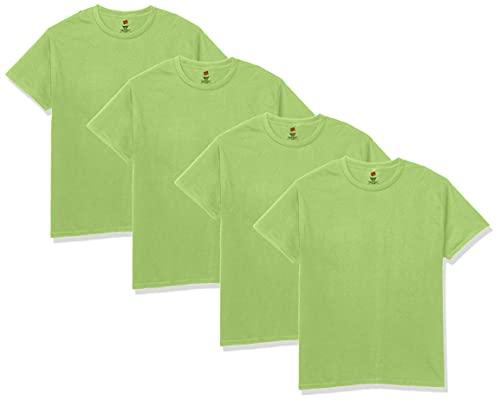 Hanes Men's Essentials Short Sleeve T-shirt Value Pack (4-pack),Lime,X-Large