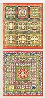 色紙 両界曼荼羅 工芸色紙 2枚セット