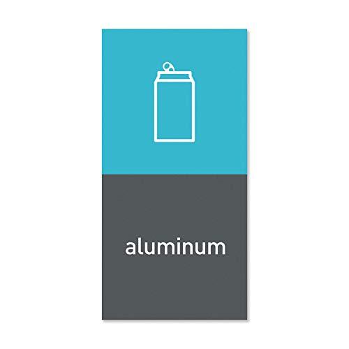 simplehuman KT1172 'Aluminum' Magnetic Bin Label, W 10.0cm x H 0.6cm x D 20.2cm