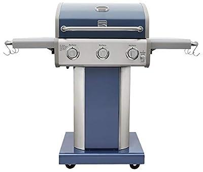 Kenmore PG-4030400LD-AZ-AM 3 Burner Outdoor Patio Gas BBQ Propane Grill, Azure