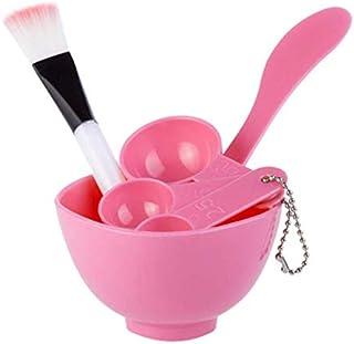 Pink Face Mask Bowl Homemade Makeup Beauty DIY Facial brush Spoon Stick Tool Set