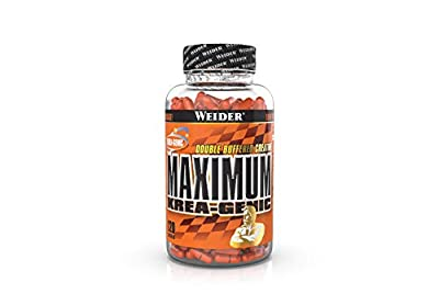 Weider Maximum Krea-Genic Creatine, Upgrade your Performance, Double Buffered Patented Technology, Muscle Building, 120 Capsules