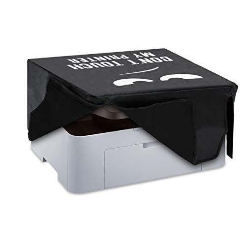 kwmobile Funda Compatible con Samsung SL-M2070 / M2070W - Cubierta de Impresora Blanco/Negro Don
