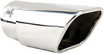 """2.5 inlet CAMARO STYLE Flat Stainless steel Exhaust tip 10/"""" long"""