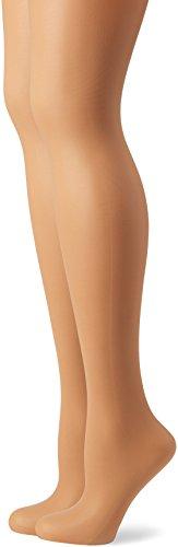 DIM Body Touch Voile X2 - Medias 20 den para mujer, color beige (peau dorée), talla 36/38 (XS)