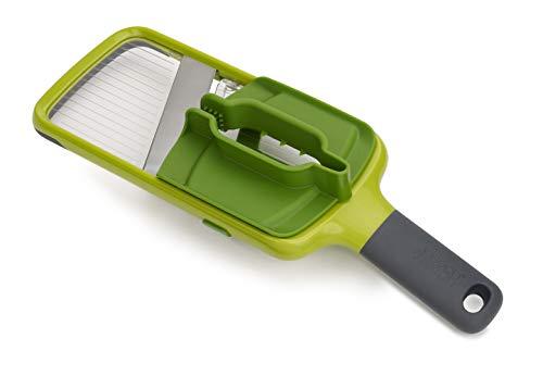 Joseph Joseph Multi-Grip Mandoline con presa di precisione per alimenti - Verde
