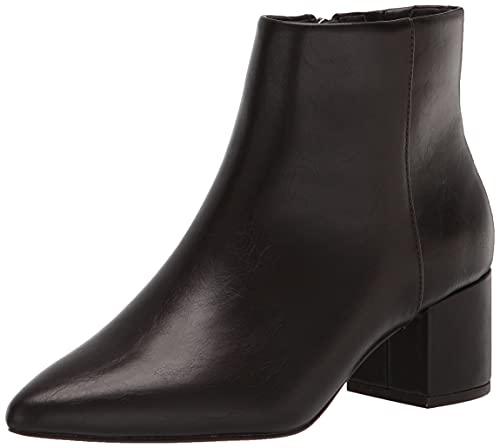 The Drop Women's Jessi Side Zip Block Heel Boot, Chocolate Brown, 5