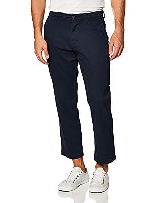 Amazon Essentials Men's Relaxed-Fit Classic Stretch Khaki, Navy, 35W x 29L