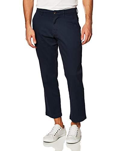 Amazon Essentials - Pantaloni kaki elasticizzati da uomo, stile casual e rilassato, Blu (Navy), W40/L30 (Taglia Produttore: 40W x 30L)