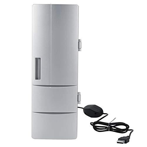 Lecxin Mini-Kühlschrank, kompakte tragbare Mini-USB-Kühl- und Gefrierkannen Getränk Bierkühler Wärmer Reiseauto Büro Verwendung für Konserven, Bier, Milch, Getränke