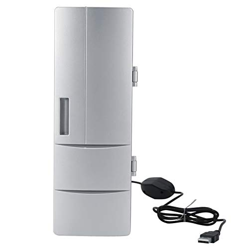 Mini koelkast, compacte mini USB koelkast vriezer blikjes bier drinken koeler warmer koeler warmer koelkast Mini koelkast Travel Car Office gebruik