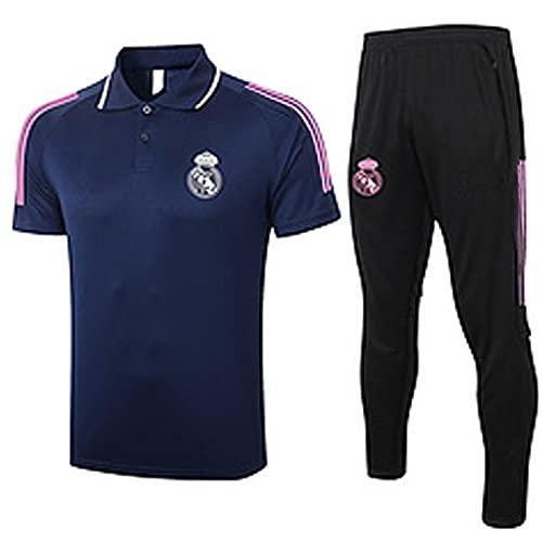 QZZQ Jersey de fútbol 2021 Reǎl Mǎ Drid Polo Camisa Fútbol para Hombre Traje de Entrenamiento de los Hombres, Sudadera de los Hombres Ventilador de Deportes Ropa deportiv XL