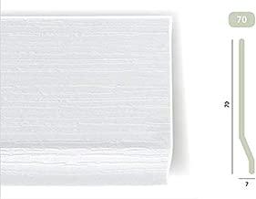 Lot de 5 Plinthes PVC Rigide /à L/èvre recouvrement au sol de 1cm 100mm x Ep.2mm Gris MMD Long.1m x Haut