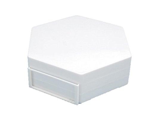 ウェーブ ディスプレイ 六角ベース (ホワイト) キャラクターモデル対応 プラスチック製 タイトル用フレーム付属 約W100×H30mm KF-022 ディスプレイ用アクセサリ