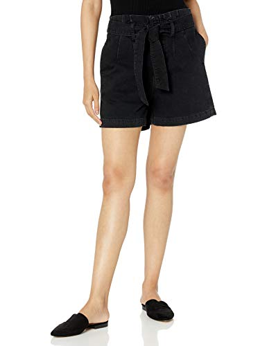The Drop Women's Brett Paperbag High-Waist Tie-Front Denim Short