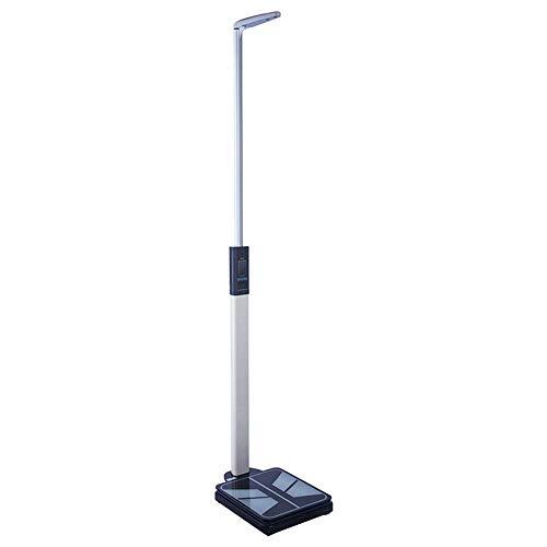 ZJZ Básculas electrónicas de Salud, báscula de Altura y Peso, medidor de Grasa Corporal ultrasónico, Pantalla LED Digital de Alta definición, medición precisa 110-195cm