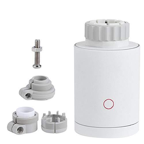 Raguso Actuador eléctrico WiFi Control de válvula de conexión programable Termostato ABS Válvulas de actuador de radiador para el...