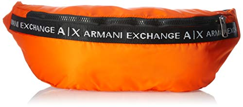 Armani Exchange AX Herren Logo Tape Nylon Sling Bag Bauchtasche, Arancione-Orange, Einheitsgröße