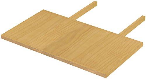 Brasilmöbel blat 50 x 90 dąb jasny Rio Classiko lub Rio Kanto – przedłużenie stołu z pinii z prawdziwego drewna – rozmiar i kolor do wyboru – do stołu do jadalni, stół drewniany, stół rozkładany