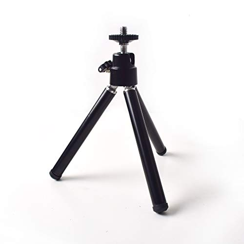 """Portable Mini Tripod with Ballhead Tabletop Stand for Mini Projector Compact Cameras DSLRs or Other 1/4"""" Screws Interface Device"""