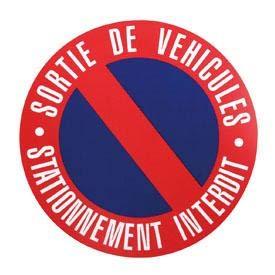 Disque stationnement interdit 250mm a clouer ADNAuto