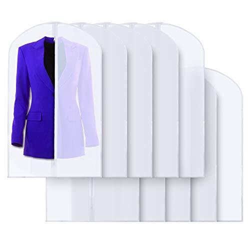 Plixio Bolsas de plástico transparente de 101,6 cm para colgar ropa – trajes, vestidos y bolsas de ropa – (paquete de 10)