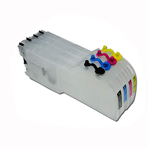 Cartucho de tinta para Brother LC39/LC985/LC38/LC61/LC980/LC990 cartucho de tinta largo recargable para impresora Brother DCP-J125, DCP-J315W