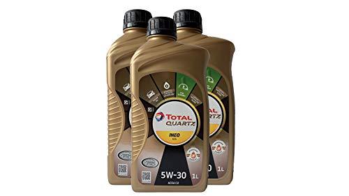 Total Quartz INEO ECS 5 W30 Huile de moteur 3 x 1l = 3 litre