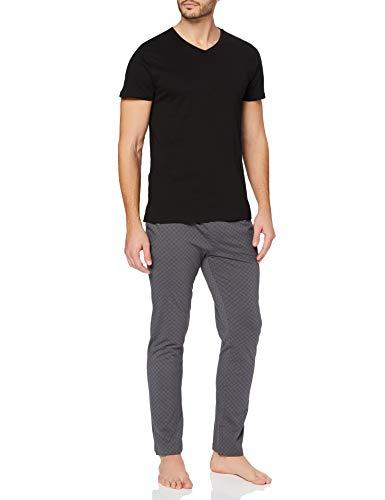 ESPRIT Bodywear Herren XANNDER NW OCS Pyjama Longsleeve Pyjamaset, 001/BLACK, XL