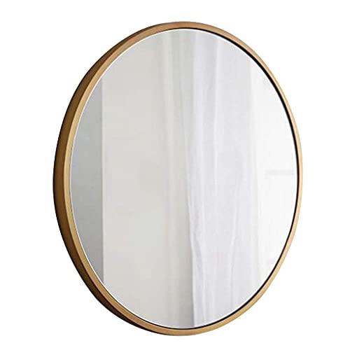 Badrumsspegel, rund spegel guldram metallinramad badrumsspegel, hög definition väggmonterad sminkspegel för vardagsrum sminkbord entréer sovrum inredning, 60 cm