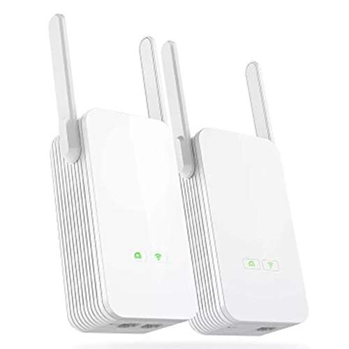 ZXCV Adaptador Ethernet Powerline 1pair 1000 Mbps, el Adaptador de Red PLC,...
