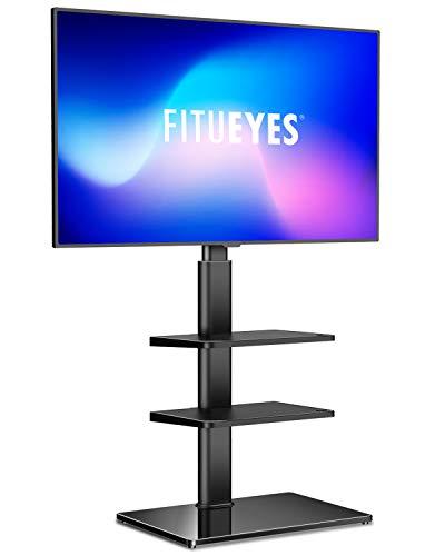petit un compact FITUE YES Meuble TV avec 3 étagères pivotantes pour écrans TV 32-60 pouces…