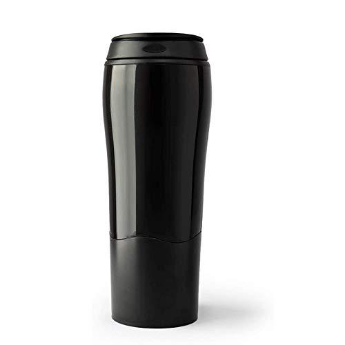 WUCHENG Ménage extérieur Portable Thermos Thermos Voyage Leakproof, Leakproof Tasse à café, 470ml mug Isotherme (Color : Black)