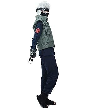 miccostumes Men s Fullset for Ninja Cosplay Outfit  Men m  Dark Blue