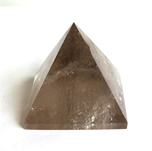 Yuquanxin Dauerhaft Natürliche Rauchquarz-Pyramide Tee Kristall-Quarz-Pyramide Ore Gems Stein Energie Stein Crystal Healing (Color : As Shown)