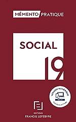 MEMENTO SOCIAL 2019 - Toute la réglementation sociale applicable pour 2019 de Catherine Crevisier